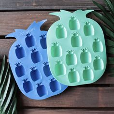 sunnylife - pineapple ice trays 2 set blue/green from shophearts. Saved to things i want. Jesse Joy, Pineapple Kitchen, Sunnylife, Household Items, Summer Fun, Summer Drinks, Ice Tray, 2 Set, Decoration