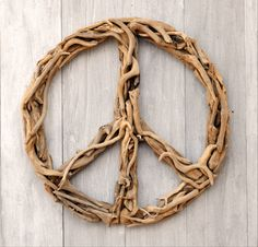 Driftwood Peace Sign.