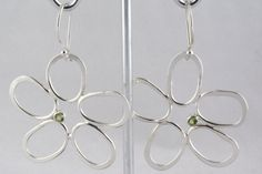 Handcrafted Sterling Silver Flower Earrings by JewelryByLanni