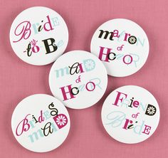 Bachelorette Buttons #party
