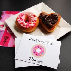 If you are still on the hunt for a Valentine's Day card for that special someone say it with donuts.