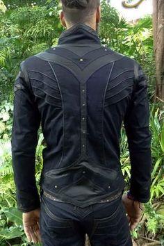 mens taurid festival style stretch denim jacket vest with elaborate  detailing New Mens Fashion e3dbbea2892b