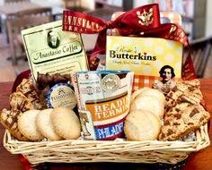 Authentic Philly coffee basket!  It comes with Rosie's Original Butter Cookies, Milk Chocolate Wilbur Buds, My Boys Baking Chocolate Chip Toffee Pecan Biscotti and an iconic Philadelphia mug!  Great gift idea for any occasion!
