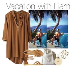 """""""Vacation with Liam"""" by cheyenne-stock ❤ liked on Polyvore featuring Payne, Hidden Spectrum, CÉLINE, Chanel, Maison Margiela and Candie's"""