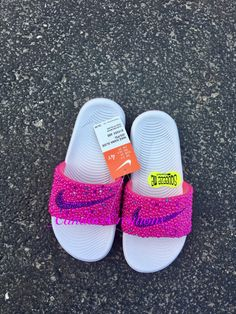 Items similar to Bedazzled Nike slides on Etsy Nike Sandals, Nike Air Shoes, Fly Shoes, Bling Shoes, Nike Slides For Girls, Nike Benassi Slides, Bershka Collection, Jordan Shoes For Women, Nike Slippers