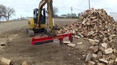 mini excavator with wood splitter
