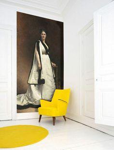 Ce joli jaune qui fait bloc (tapis/fauteuil)