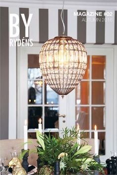 Amadeus ceiling lamp in exclusive design from By Rydéns resembles a crystal chandelier with its antique coloured metal and glass prisms that spread a soft light. Home Lighting, Pendant Lighting, Chandelier, Ceiling Lamp, Ceiling Lights, Vintage Farm, Fabric Shades, Kugel, Glass Design