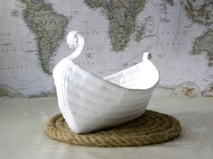 Viking Boat Basket Home Decoration Sea House Lake by PrivateDock