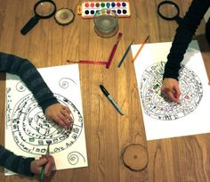 Tree of Life writing project. Have students draw a ring for each year of their life and then write and illustrate events from that year inside each ring. -- similar to the life timeline I did w/ memoir writing but more visually interesting! Therapy Activities, Art Activities, Play Therapy, Life Timeline, Student Drawing, Teaching Writing, Essay Writing, Expressive Art, Writer Workshop