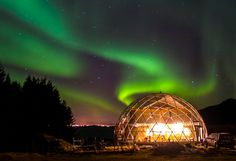 Gorgeous Solar Geodesic Dome Crowns Cob House in the Arctic Circle