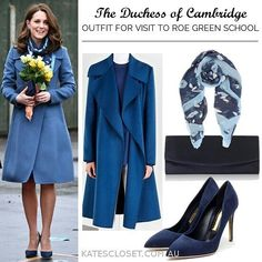 """1,372 Likes, 10 Comments - Kate's Closet (@katescloset.com.au) on Instagram: """"The Duchess of Cambridge has arrived at Roe Green School looking beautiful in an all blue ensemble!…"""""""