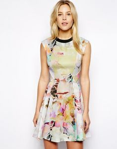 Love this dress & prints. Ted Baker Scuba Dress in Electric Daydream