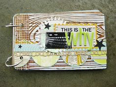This has inspired me to make a landscape-style  minibook!