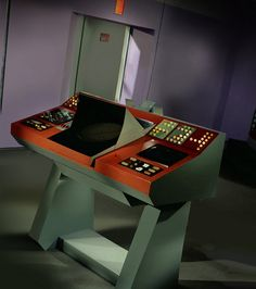 Transporter console of the USS Enterprise, NCC-1701.