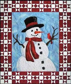 Mr+Frosty+Picture+Pieced+Quilt+Pattern+by+England+Design+Studios+at+Creative+Quilt+Kits