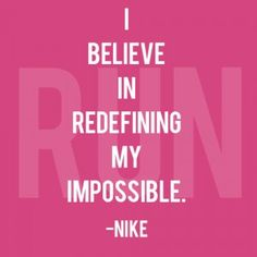 Friday Fitness Inspiration - 2/15/2013.  How will you redefine your impossible?  Let Insight show you how!  http://www.gyminsight.com/