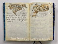 Theme pages titles and banner headings made for focus pages in everyday or bullet journal. www.valeriesjodin.com blog