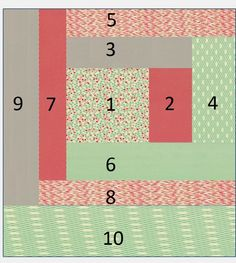 Quilt as you Go Log Cabin Tutorial - Quilting In The Rain