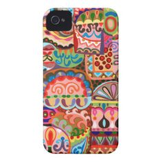Colorful Abstract iPhone 4/4S Barely There Case iPhone 4 Case-Mate Case