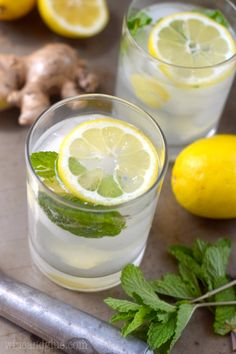 Lemon Ginger Mojito | Wine and Glue
