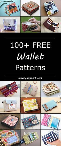 Over 100 free fabric wallet patterns to sew. Many simple and easy designs including clutch, zipper, keychain, accordion, and card wallets. Diy cloth wallet sewing tutorial.