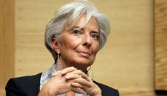 #Bold choice of #mesh #silver #earrings for #Lagarde.