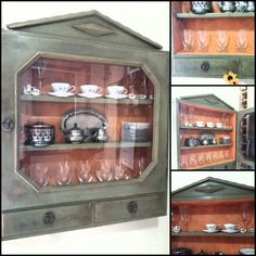 Kitchen cabinet makeover #anniesloan #anniesloanmadness #distress #drybrush #darkwax #barcelona_orange  #the_toymaker_athens