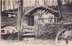 Guerre 14/18 - la villa montplaisir en argonne consruite par les poilus