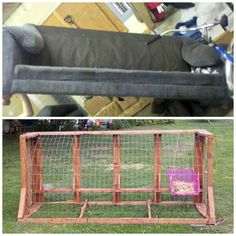 How to make a recycled sofa chicken tractor · Recycled Crafts | CraftGossip.com