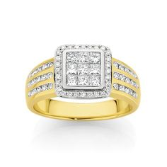 9ct Two Tone Diamond Ring | Angus & Coote