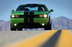 2011 Dodge Challenger SRT8 392 Green with Envy- I want one without stripes