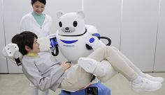 Elderly people and patients with mobility difficulties can rely on Robear. This Japanese bear-shaped nursing robot is able to lift patients from and to their beds.