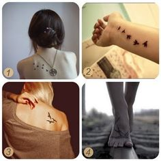 Oh the lovely things: Inspiration : bird tattoos + DIY temporary tattoos Oh die schönen Dinge: Inspiration: Vogel-Tattoos + DIY. Tatto Love, Love Tattoos, Beautiful Tattoos, Picture Tattoos, Bird Tattoos, Amazing Tattoos, Tatoos, Diy Tattoo, Get A Tattoo