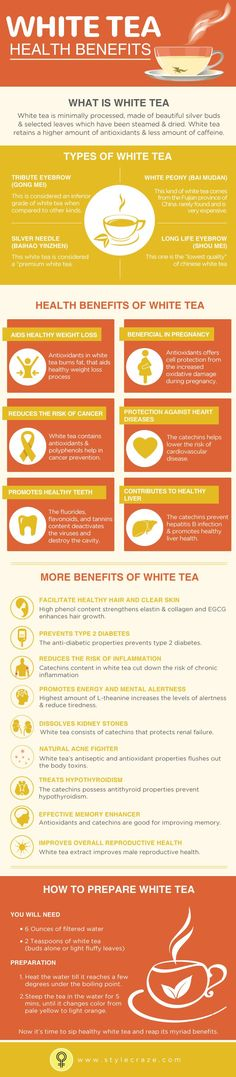 White Tea Benefits #Infographic #Health #Tea