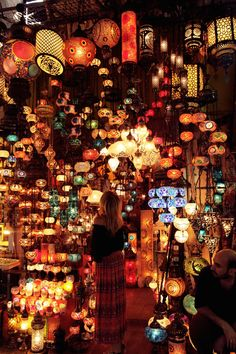 The Grand Bazaar in Istanbul is one of the largest and oldest covered markets in the world. The Grand Bazaar attracts between and visitors daily, and is the most visited monument in the world. Oh The Places You'll Go, Places To Travel, Places To Visit, Grand Bazar, Turkey Destinations, Grand Bazaar Istanbul, Belle Villa, Hagia Sophia, The Good Place