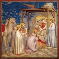 Motyw pokłonu trzech króli. Giotto Pokłon trzech króli reprodukcja