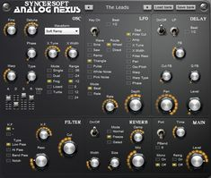 SyncerSoft has released Analog Nexus, is vintage style warp synthesis synthesizer with extended possibilites of modulation. It has 4 types of analog st Music Software, Vintage Style, Recovery, Filters, Type, Create, Rome, Vintage Fashion, Vintage Inspired