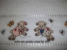 Resultado de imagem para ponto cruz infantil carneirnhos