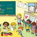 Encore un poster nathan, avec plein de pitinenfants dedans ! Picture Comprehension, Picture Composition, School Clipart, Hidden Pictures, Early Education, Stories For Kids, Educational Activities, Speech And Language, Cute Illustration