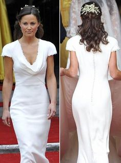 White Bridesmaid Dress of Pippa's from the Royal Wedding.  I think she out shined the Bride with the simplicity of this dress!