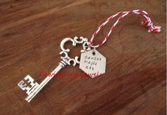 Santas magic key. With stainless steel disc. www.facebook.com/bewtchingjewels
