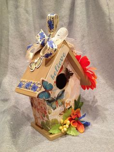 BUTTERFLIES  Handmade Wood Birdhouse by BirdhouseGiftGallery, $15.00