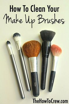 The easiest way to clean your make up brushes! | http://FamilyFoodFun.com