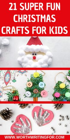 21 Christmas crafts for kids! Keep your kids busy during winter break from school doing fun kids holiday crafts! Make DIY gifts or fun at home Christmas decorations with these super fun Christmas craft ideas for kids, check them out! Christmas Activities For Kids, Holiday Crafts For Kids, Kid Activities, Holiday Ideas, Christmas Ideas, Indoor Activities, Christmas Projects, Holiday Fun, Holiday Gifts
