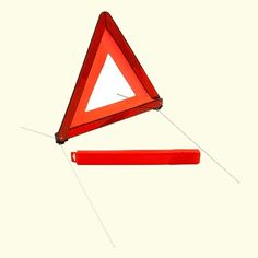 Warning triangle conforming to the Geneva regulation number Small packing unit (Height, Length, Depth; Mazda, Triangle, The Unit, Autumn, Mini, Fall