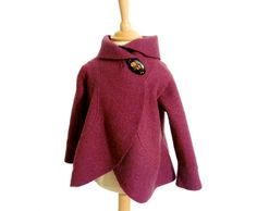 Elegant little girls jacket-made out of 100%wool.