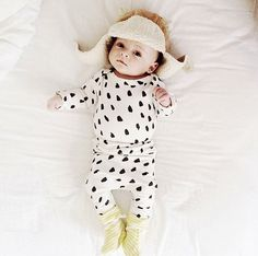 organic baby onesie in black and white dot by ourlittlelullaby