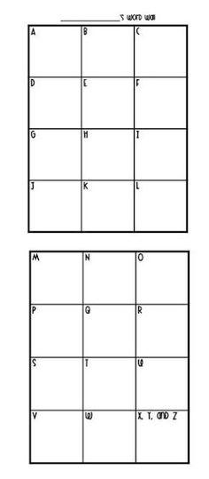Classroom Freebies: My Own Word Wall