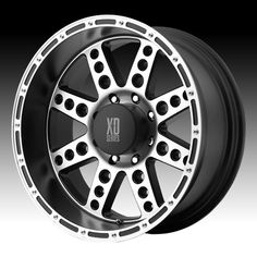 XD Series Wheels XD766 Diesel - 17 inch 17x9 inch Black With Machined Face Off Road Wheels
